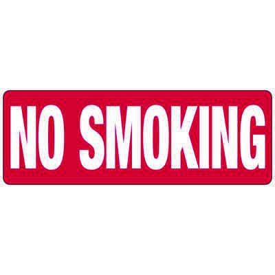 No Smoking Signs - Aluminum or Vinyl