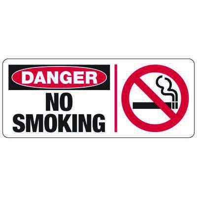 Danger No Smoking - Industrial Smoking Signs