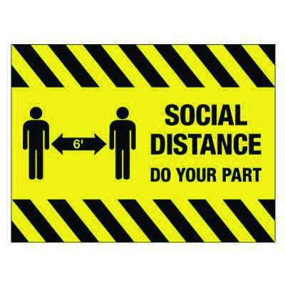 TexWalk® Social Distancing Giant Sign