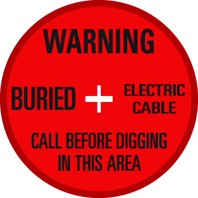 SoilMarker™ Surface Markers - Warning Buried Electric Cable