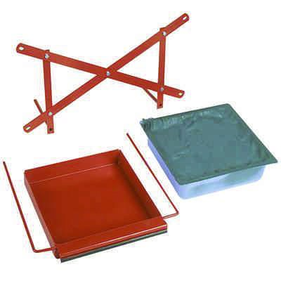 Steel Drip Tray Kit with Plastic Absorbent Pan