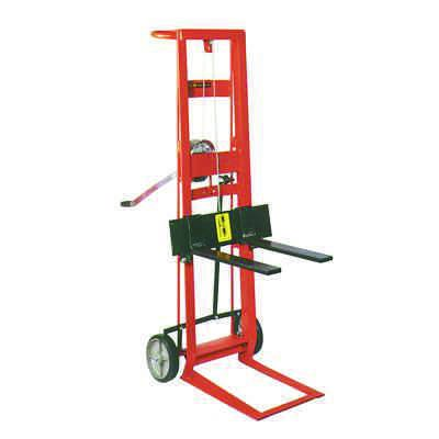 Steel Frame Two-Wheeled Winch Pedalift with Forks