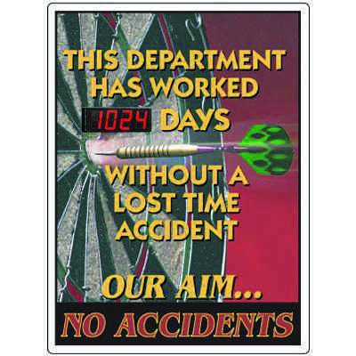 Stock Scoreboards - Our Aim No Accidents