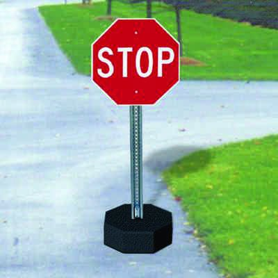Stop Sign And U-Channel Post Kits - 60 lb. Base