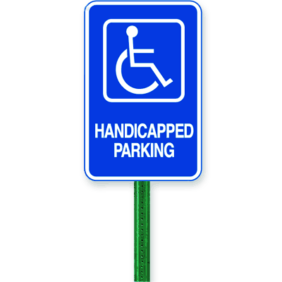 Symbol Of Access Parking Sign Kit - Handicapped Parking