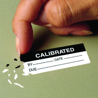Calibrated By Date Due Tamper Evident Labels