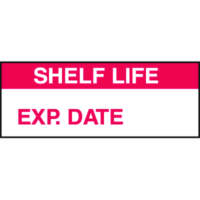 Shelf Life Exp. Date Tamper Evident Labels