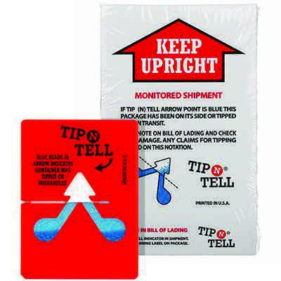 Tip-N-Tell Indicator Shipping Labels