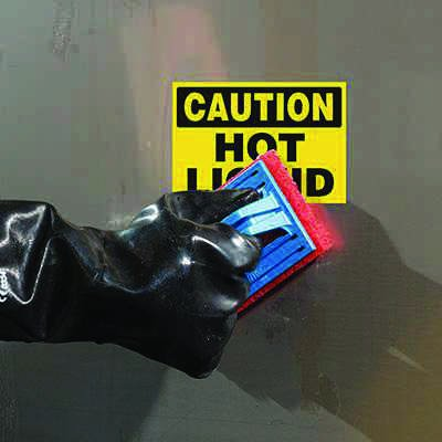 ToughWash® Labels - Caution Hot Liquid