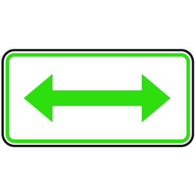 Tow Away Signs - Green Double Arrow