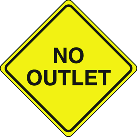 Traffic Signs - No Outlet