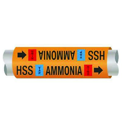 Ultra-Mark® Ammonia Pipe Markers - High Stage Suction