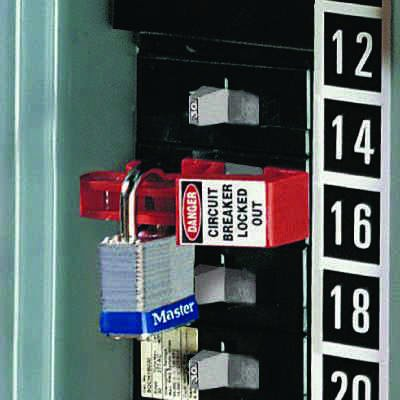 Universal Breaker With Padlock Lock-Outs