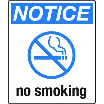Universal Graphic Signs And Labels - Notice No Smoking