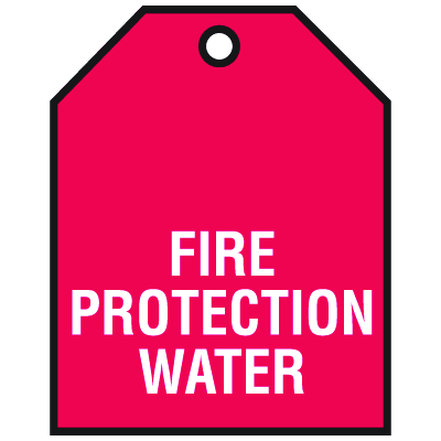 Fire Protection Water Vinyl Valve Indicator Tags