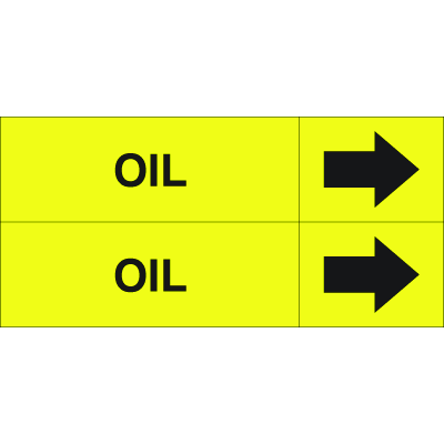 Weather-Code™ Self-Adhesive Outdoor Pipe Markers - Oil