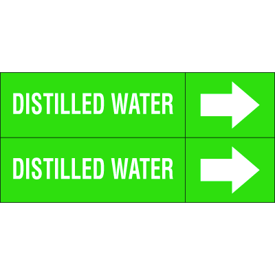 Weather-Code™ Self-Adhesive Outdoor Pipe Markers - Distilled Water