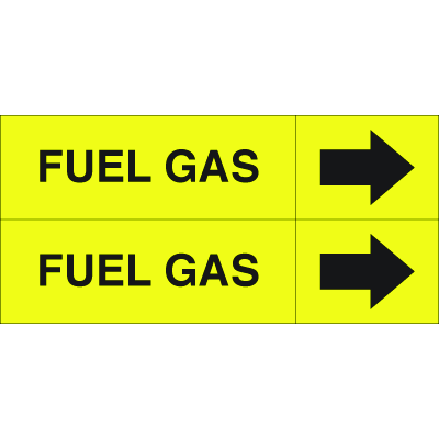 Weather-Code™ Self-Adhesive Outdoor Pipe Markers - Fuel Gas