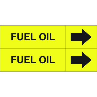 Weather-Code™ Self-Adhesive Outdoor Pipe Markers - Fuel Oil