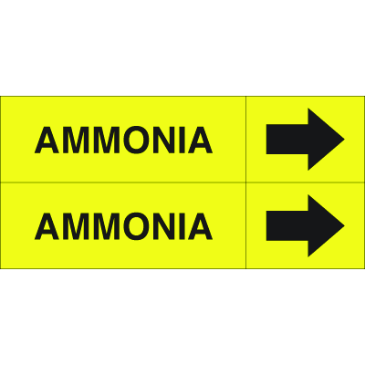 Weather-Code™ Self-Adhesive Outdoor Pipe Markers - Ammonia