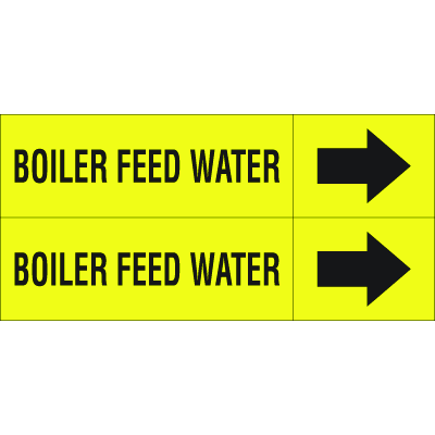 Weather-Code™ Self-Adhesive Outdoor Pipe Markers - Boiler Feed