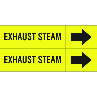 Weather-Code™ Self-Adhesive Outdoor Pipe Markers - Exhaust Steam