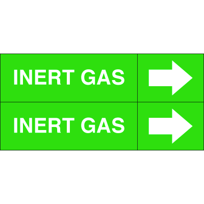 Weather-Code™ Self-Adhesive Outdoor Pipe Markers - Inert Gas