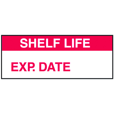 Shelf Life Exp. Date Write On Labels