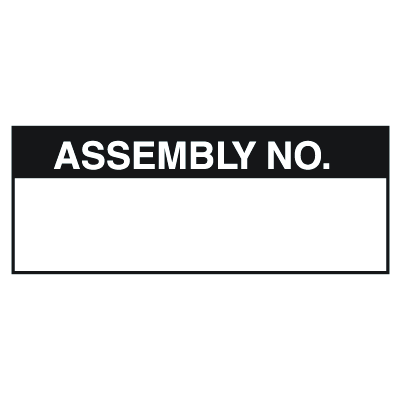 Assembly No. Write On Labels