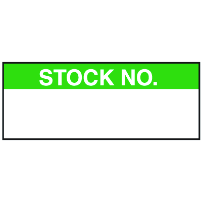 Stock No. Write On Labels