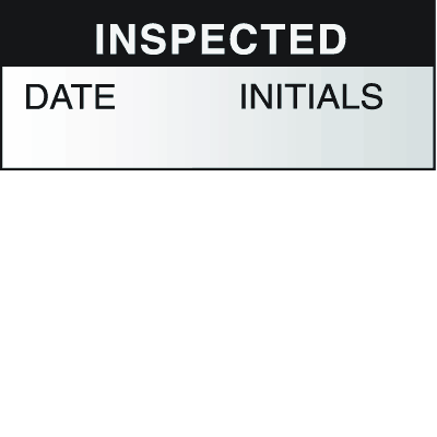 Write On Labels - Inspected Date Initials