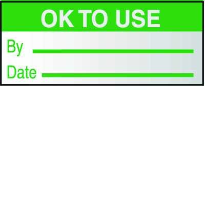 Ok To Use By Date Write On Self Debossing Labels