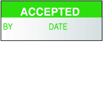 Accepted  Write On Labels