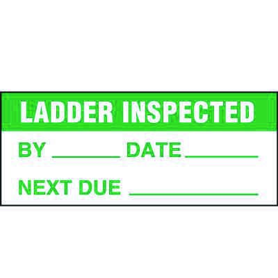 Ladder Inspected Label