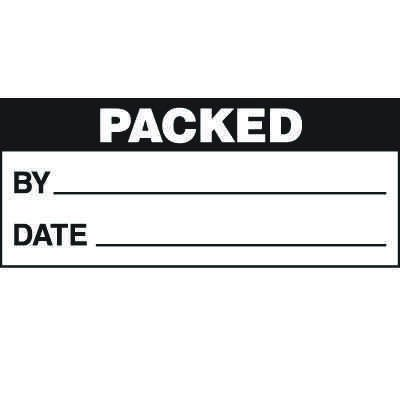 Packed Status Label