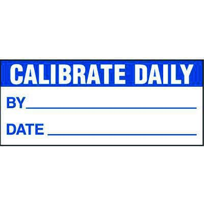 Calibrated Daily Status Label