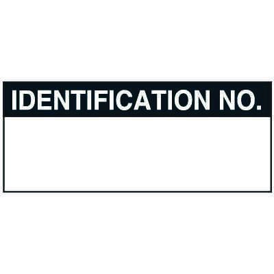 Write-On Status Roll Labels - Identification No