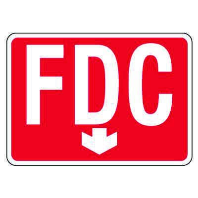 Reflective FDC Signs - Down Arrow, White on Red