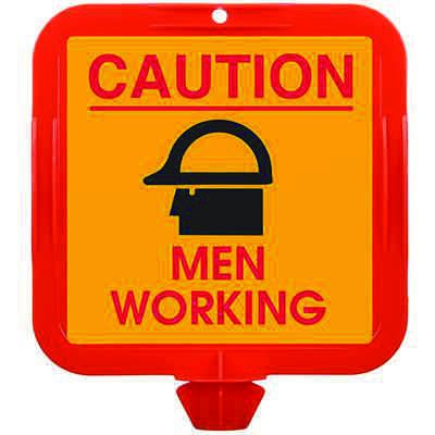 Cone Sign Caution Men Working