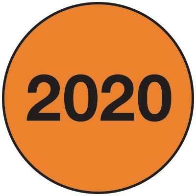 2020 Inventory Dot Paper Labels