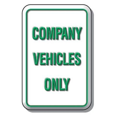 3D Parking Signs - Company Vehicles Only