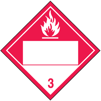 Combustible 4 Digit Blank Placards