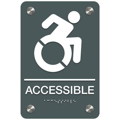 Accessible (Dynamic Accessibility) - Premium ADA Signs