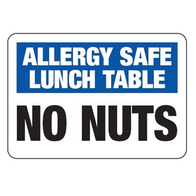 Allergy Safe Lunch Table No Nuts  - School Allergy Signs