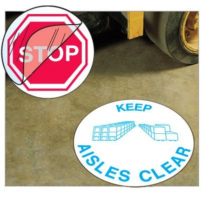 Anti-Slip Safety Floor Markers - Keep Aisles Clear