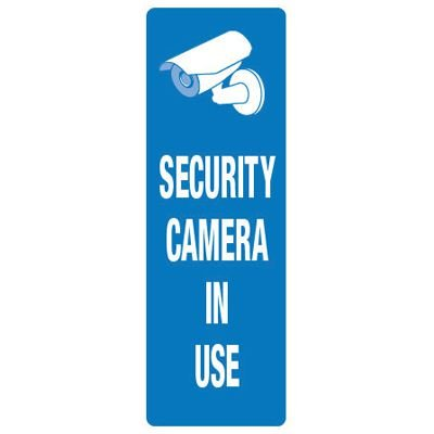 Back Of Sign Labels - Security Cameras In Use