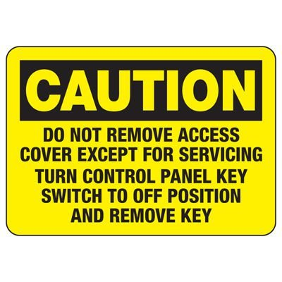 Baler Safety Signs - Caution Do Not Remove Access Cover