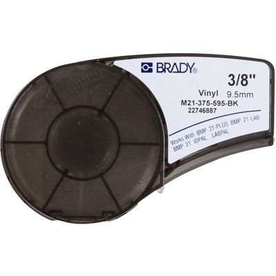 Brady M21-375-595-BK BMP21 Plus Label Cartridge - White on Black