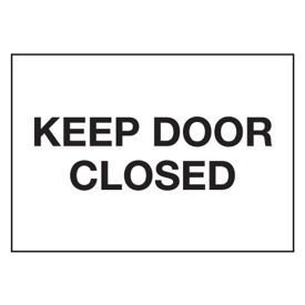 Cold Adhesion Safety Labels - Keep Door Closed