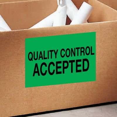 Quality Control Accepted Color Coded QC Labels